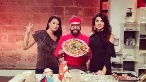 Michele digiglio nel programma pmeridiano su telenorba a buon pomeriggio con Mary Digennaro e Nadia Bengala in foto