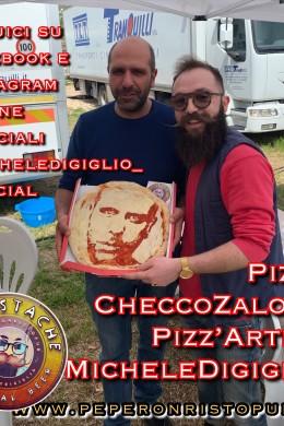 Michele Digiglio e Checco Zalone sul set di TOLO TOLO